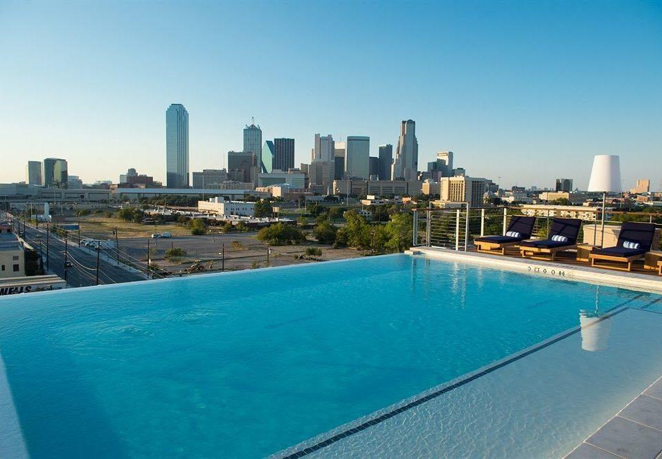 City Hip Pool sky water skyline swimming pool Downtown condominium cityscape