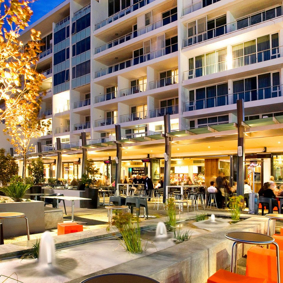 Lounge Outdoors Play Resort building plaza shopping mall condominium Downtown retail restaurant apartment building City