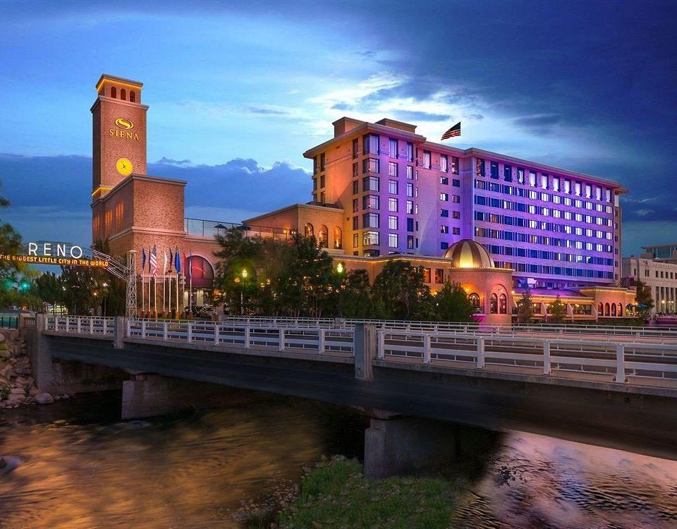 sky landmark City Town River night cityscape evening bridge dusk skyline Downtown waterway Sunset