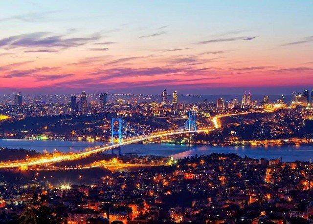 sky skyline cityscape City horizon Sunset dusk evening night afterglow metropolitan area dawn Downtown panorama