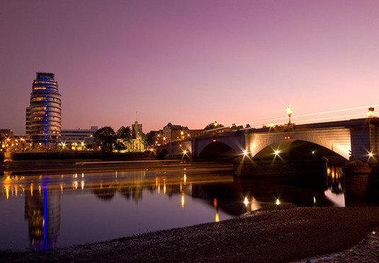sky water night landmark City light evening dusk morning bridge cityscape skyline lighting Sunset Downtown dawn