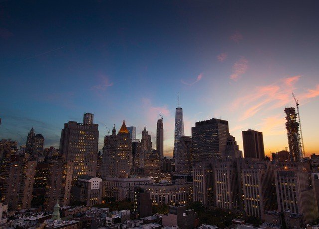 sky metropolitan area skyline metropolis cityscape skyscraper City horizon landmark building night evening dusk Downtown Sunset dawn panorama