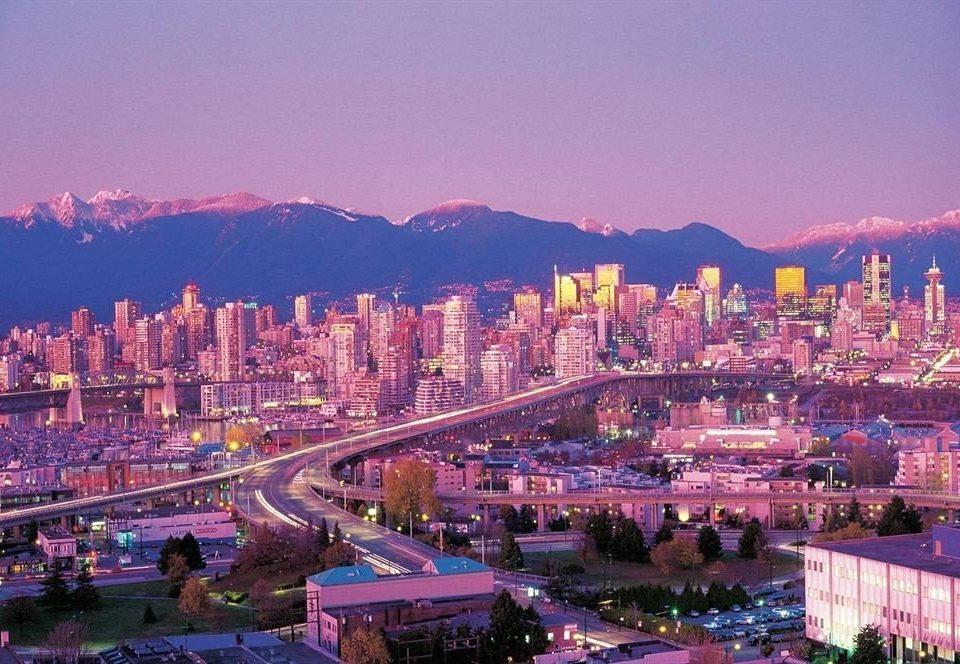 metropolitan area cityscape City skyline landmark Town night evening Downtown metropolis dusk panorama
