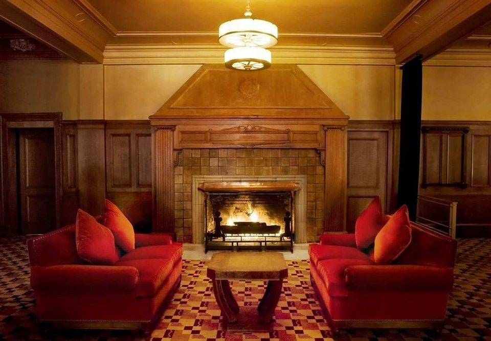 City Elegant Fireplace Historic Lounge sofa red living room lighting home Suite mansion