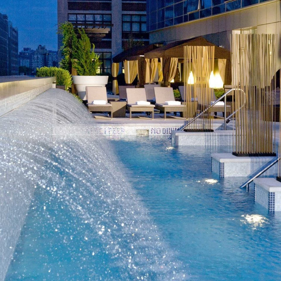 City Elegant Lounge Luxury Pool water swimming pool leisure reflecting pool water feature condominium Resort Water park