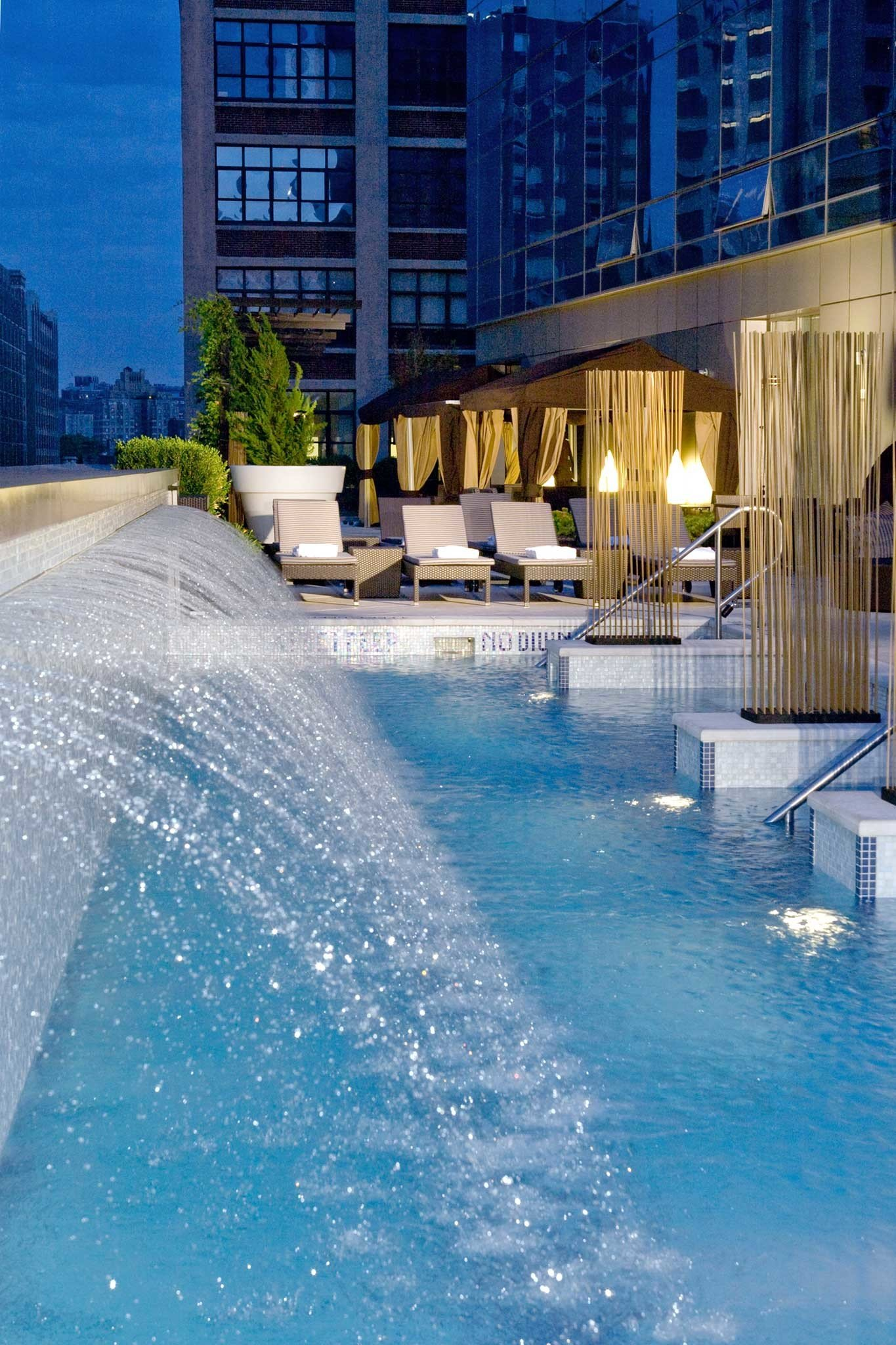 City Elegant Lounge Luxury Pool water swimming pool leisure reflecting pool water feature condominium Resort Water park