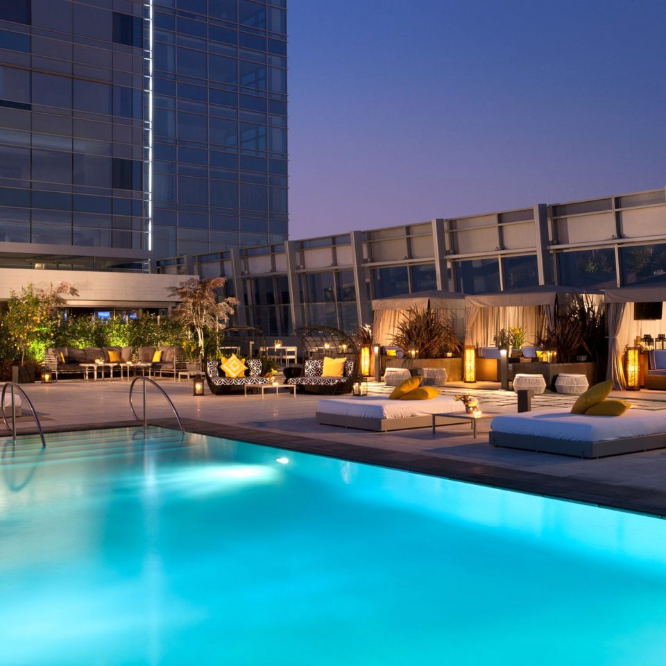 City Elegant Lounge Modern Patio Pool Rooftop sky building swimming pool leisure plaza Resort leisure centre reflecting pool condominium convention center headquarters blue