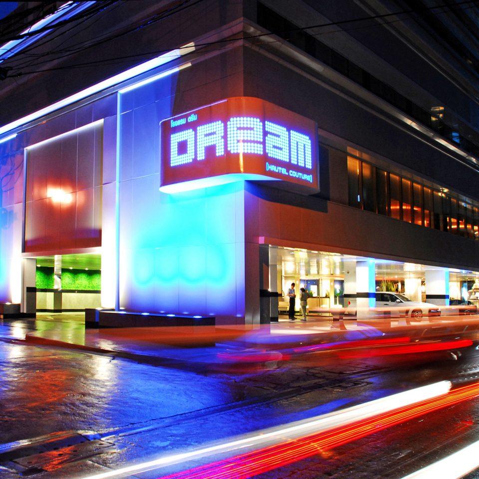 City Exterior Nightlife building night light evening store