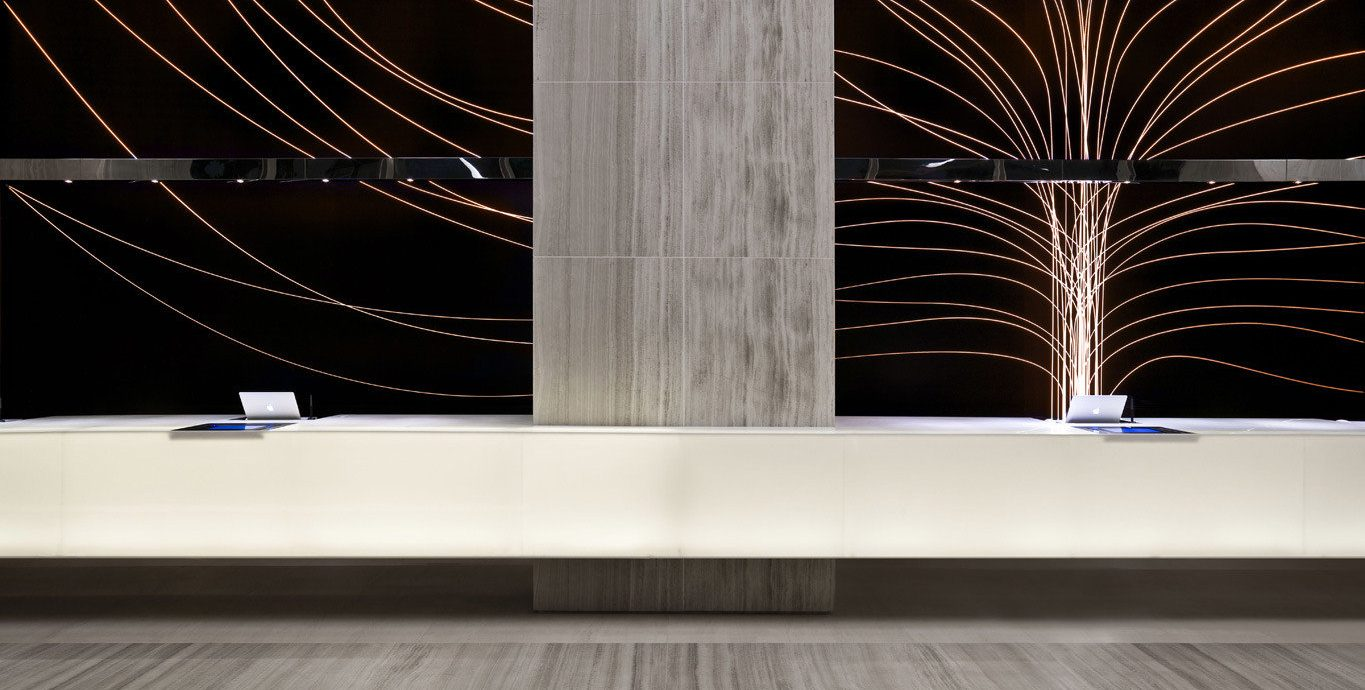 City Family Lobby Modern structure light lighting modern art flooring glass