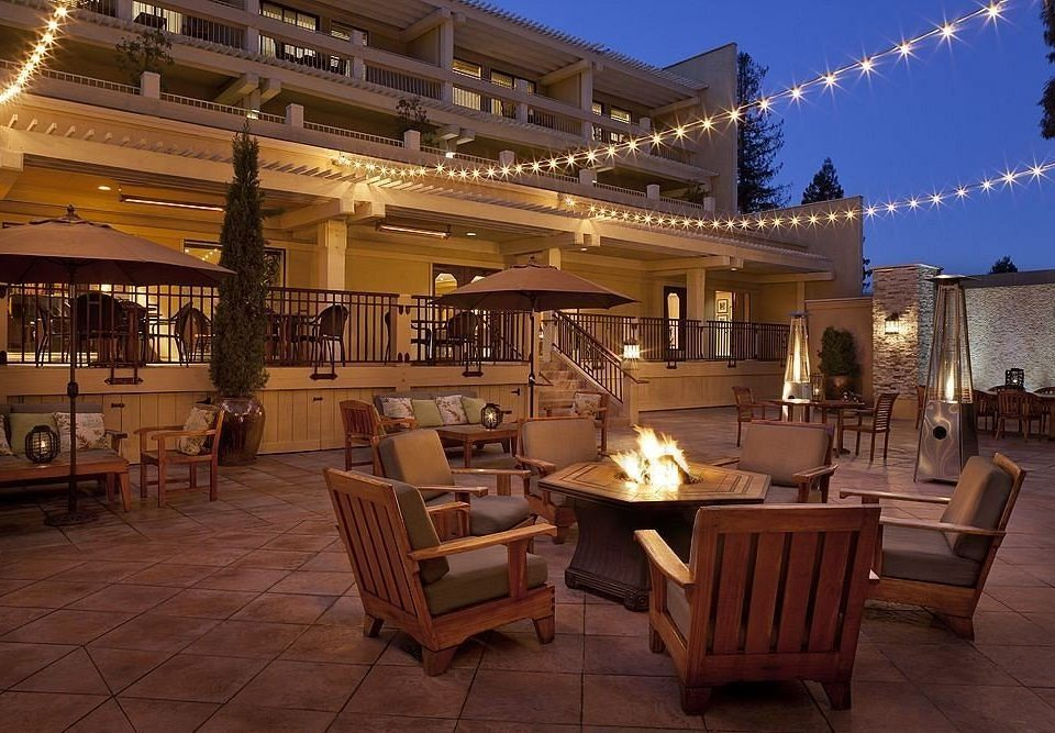 City Firepit Lounge Outdoors Patio Romantic Terrace property chair building mansion home palace Lobby living room Villa Resort