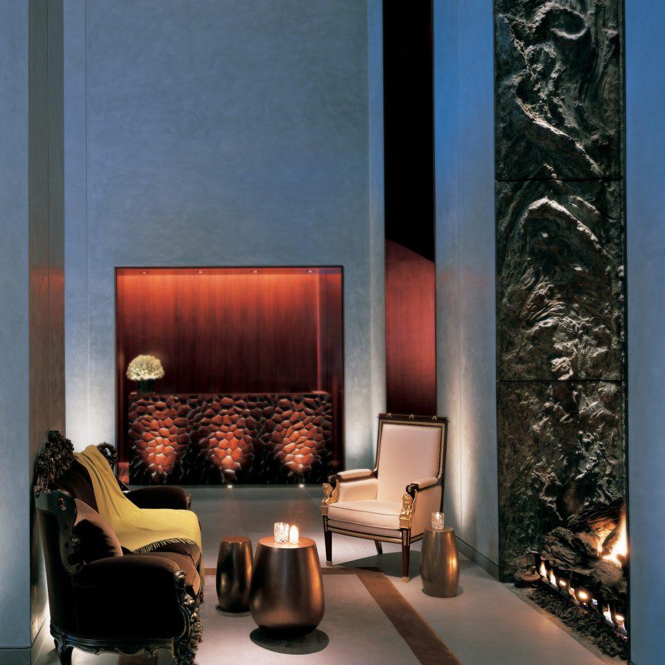 City Fireplace Hip Historic Lobby Lounge hearth living room lighting modern art flooring