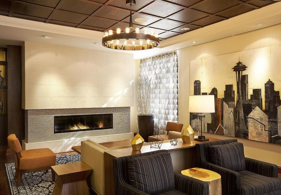 City Fireplace Lounge property living room home condominium Suite Lobby cottage Villa mansion