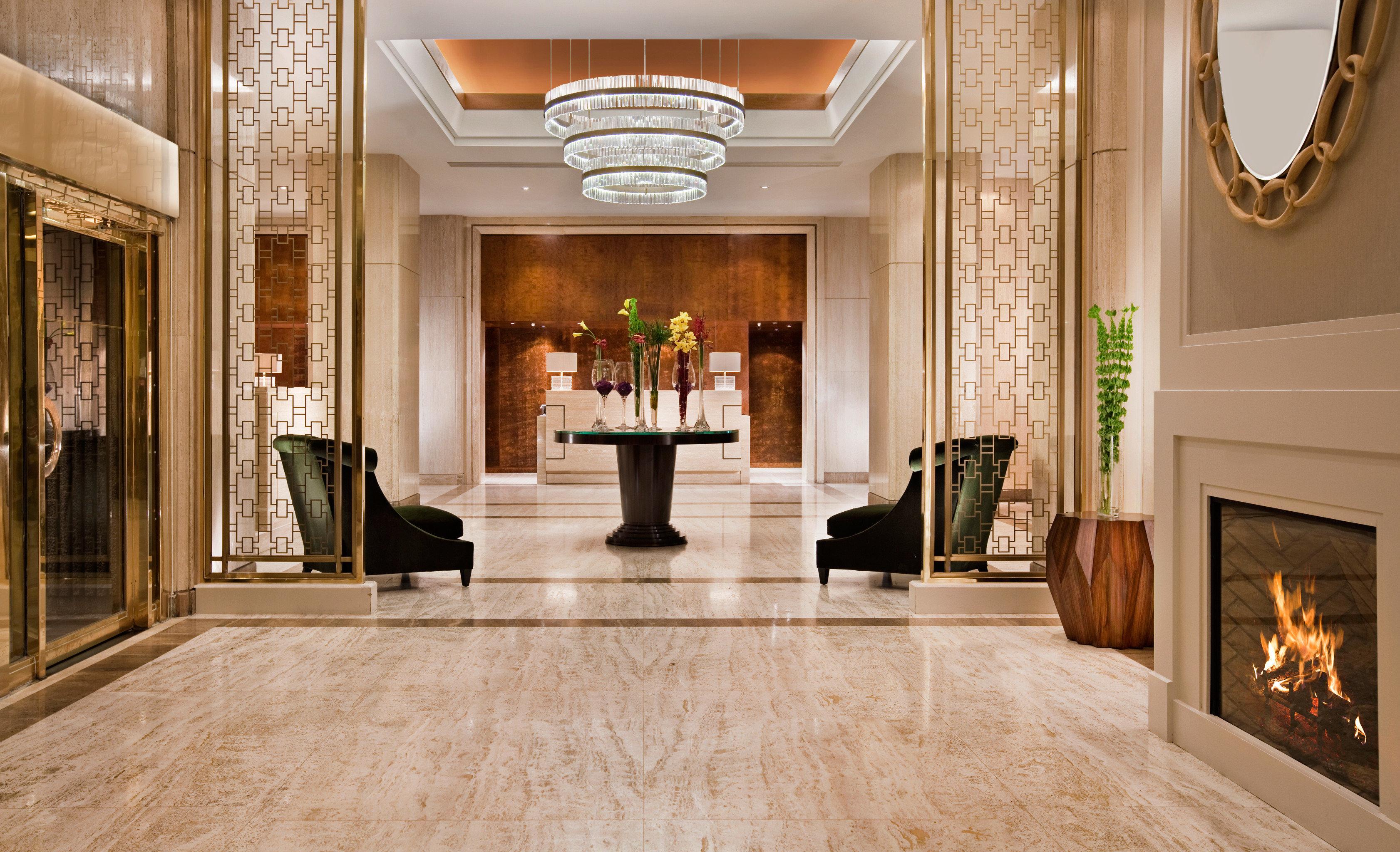 City Lobby Modern building property Fireplace home mansion hardwood living room flooring wood flooring hall stone