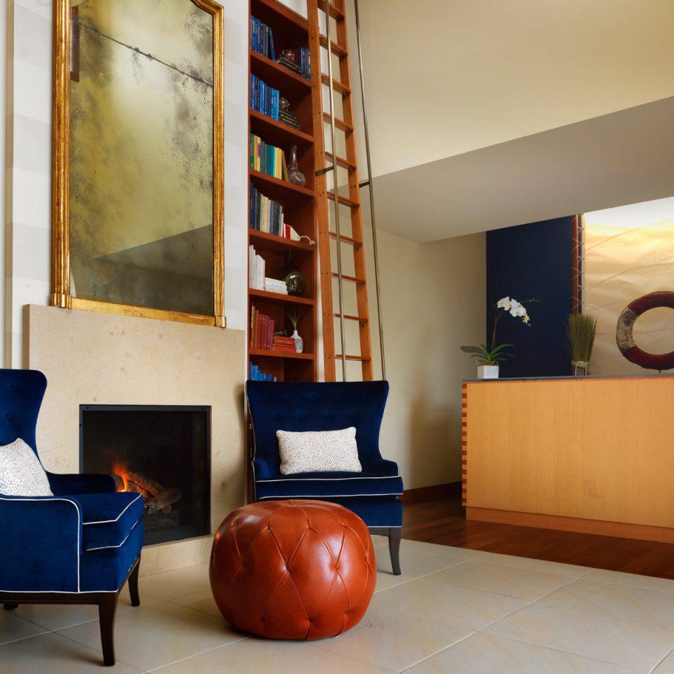 City Fireplace Lobby Modern color property living room shelf house home condominium loft