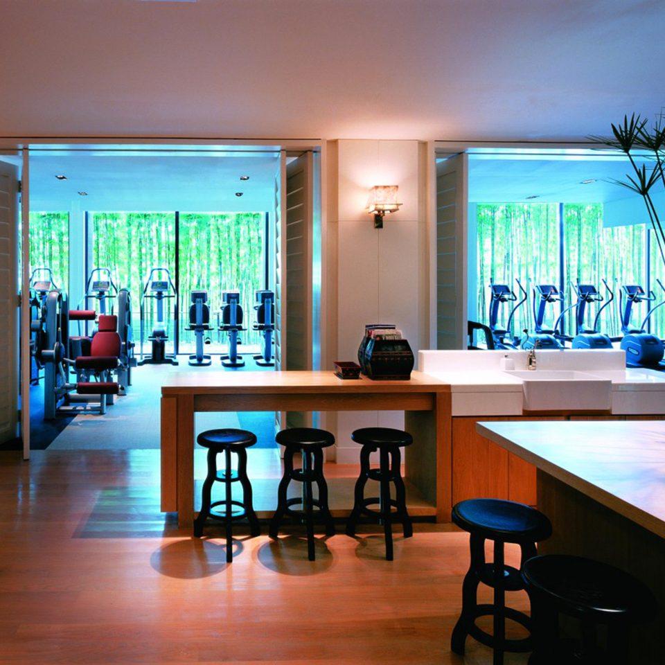 City Fitness Wellness property home Resort wooden condominium Lobby dining table