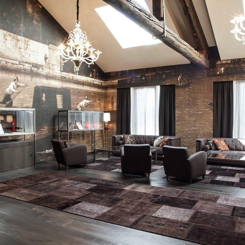 City Grounds Hip Lobby Lounge property living room hardwood home flooring wood flooring mansion loft Villa stone
