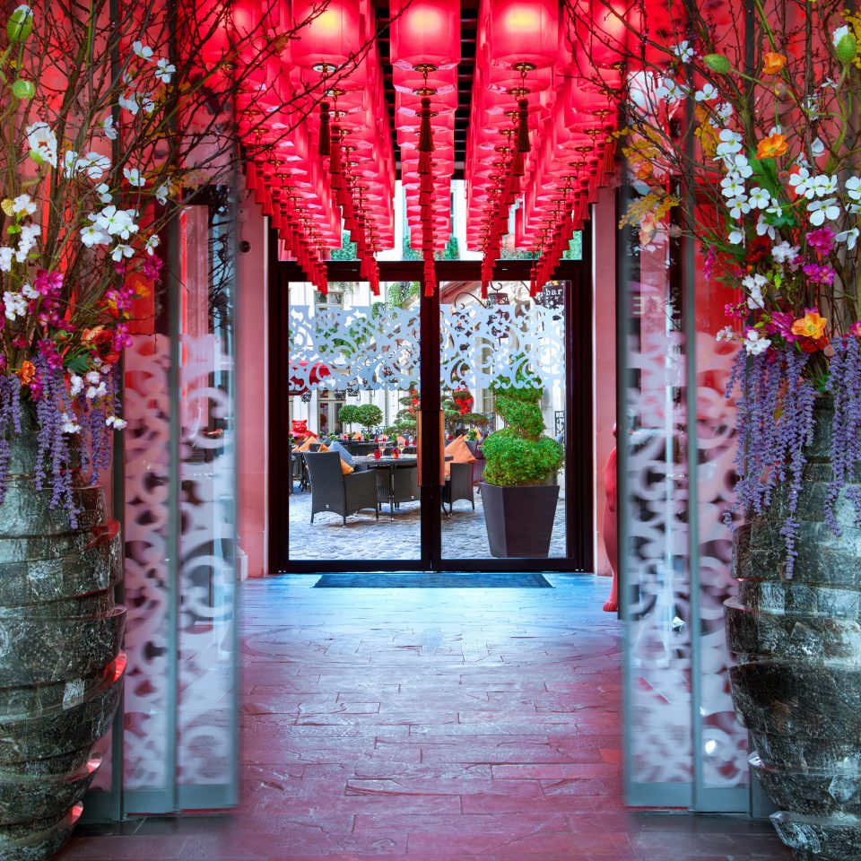 City Grounds Hip Luxury Romance color red floristry aisle art spring display window flower temple