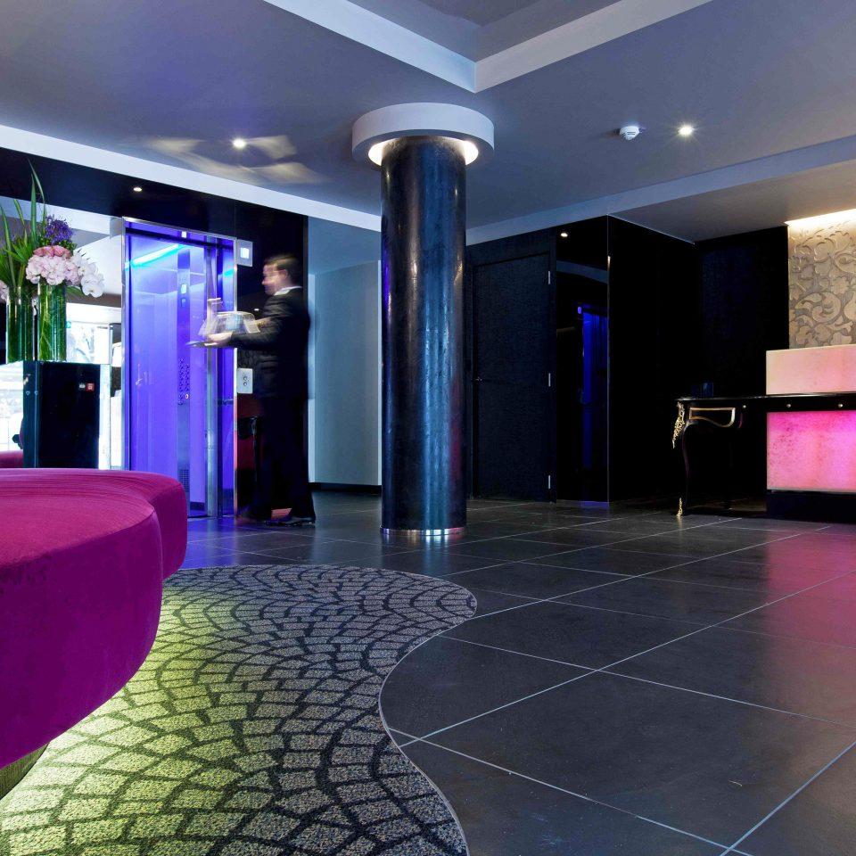 City Hip Lobby Lounge Modern flooring colored
