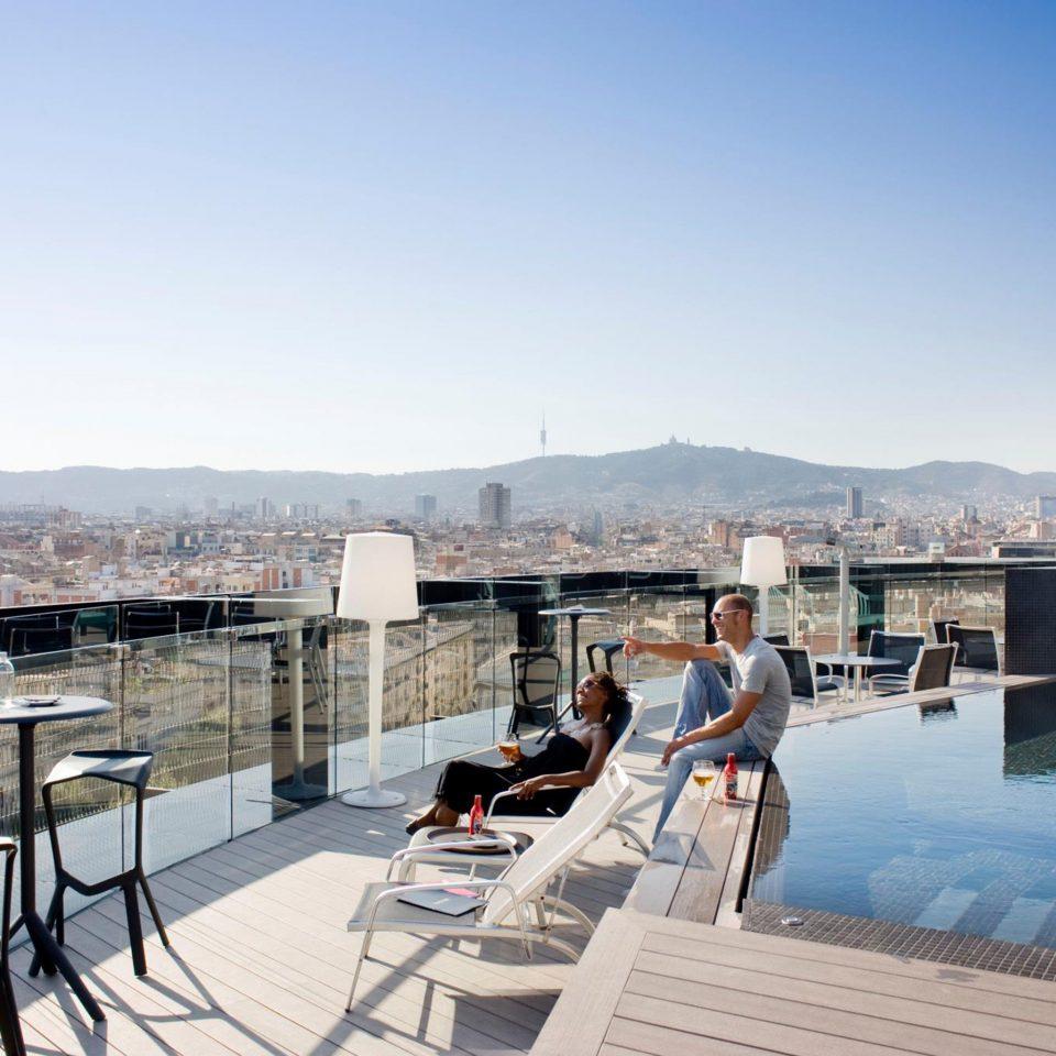 City Hip Lounge Modern Patio Pool Rooftop Scenic views Terrace sky leisure swimming pool property Resort Villa dock condominium overlooking