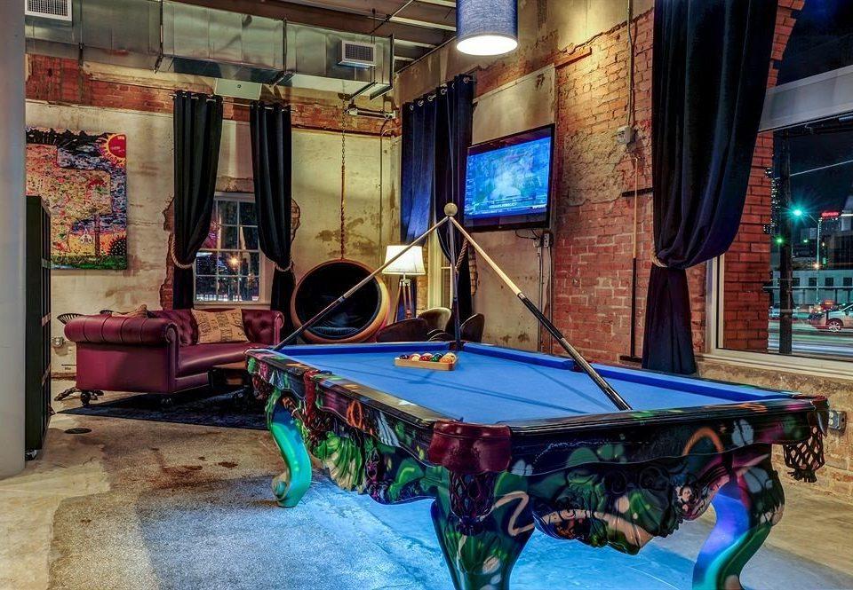 City Hip Lounge recreation room billiard room carom billiards Pool cue sports games indoor games and sports sports billiard table recreation colorful