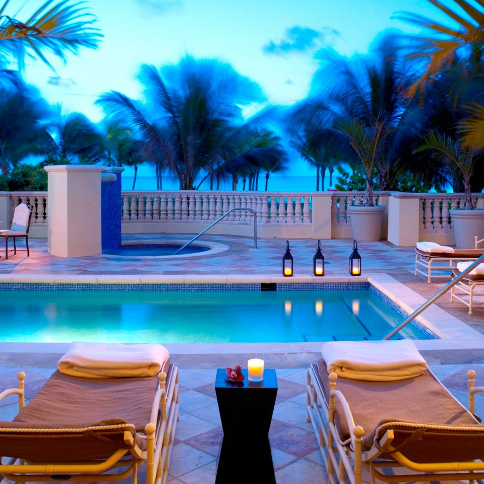 City Hotels Lounge Luxury Miami Miami Beach Outdoors Patio Pool Romance Romantic Waterfront tree leisure swimming pool chair Resort caribbean Villa palm