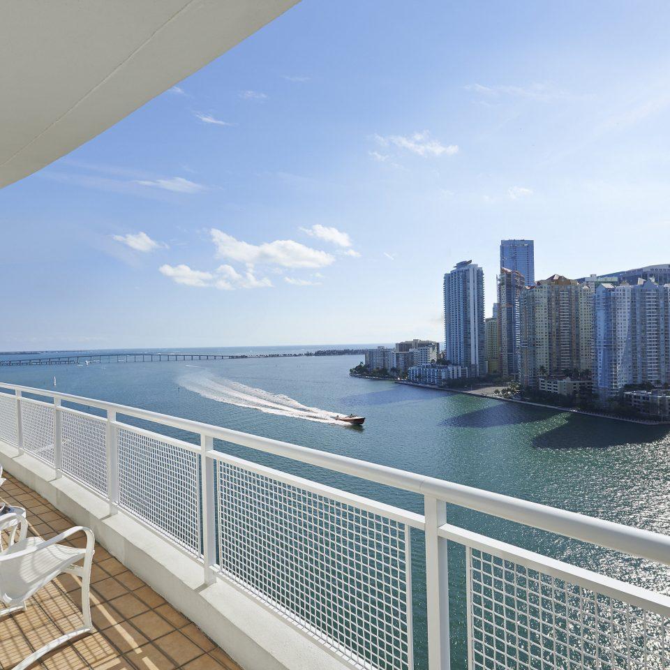 Hotels Luxury Miami Miami Beach Sea condominium water sky metropolitan area City daytime skyscraper building skyline tower block fixed link Ocean