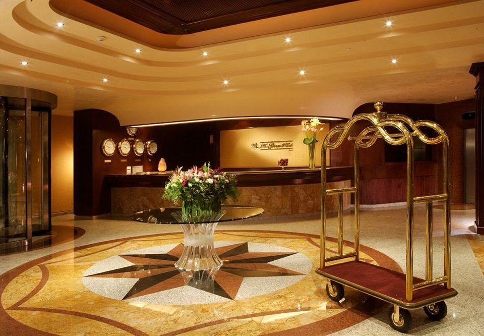 City Lobby billiard room recreation room function hall home mansion living room ballroom dining table