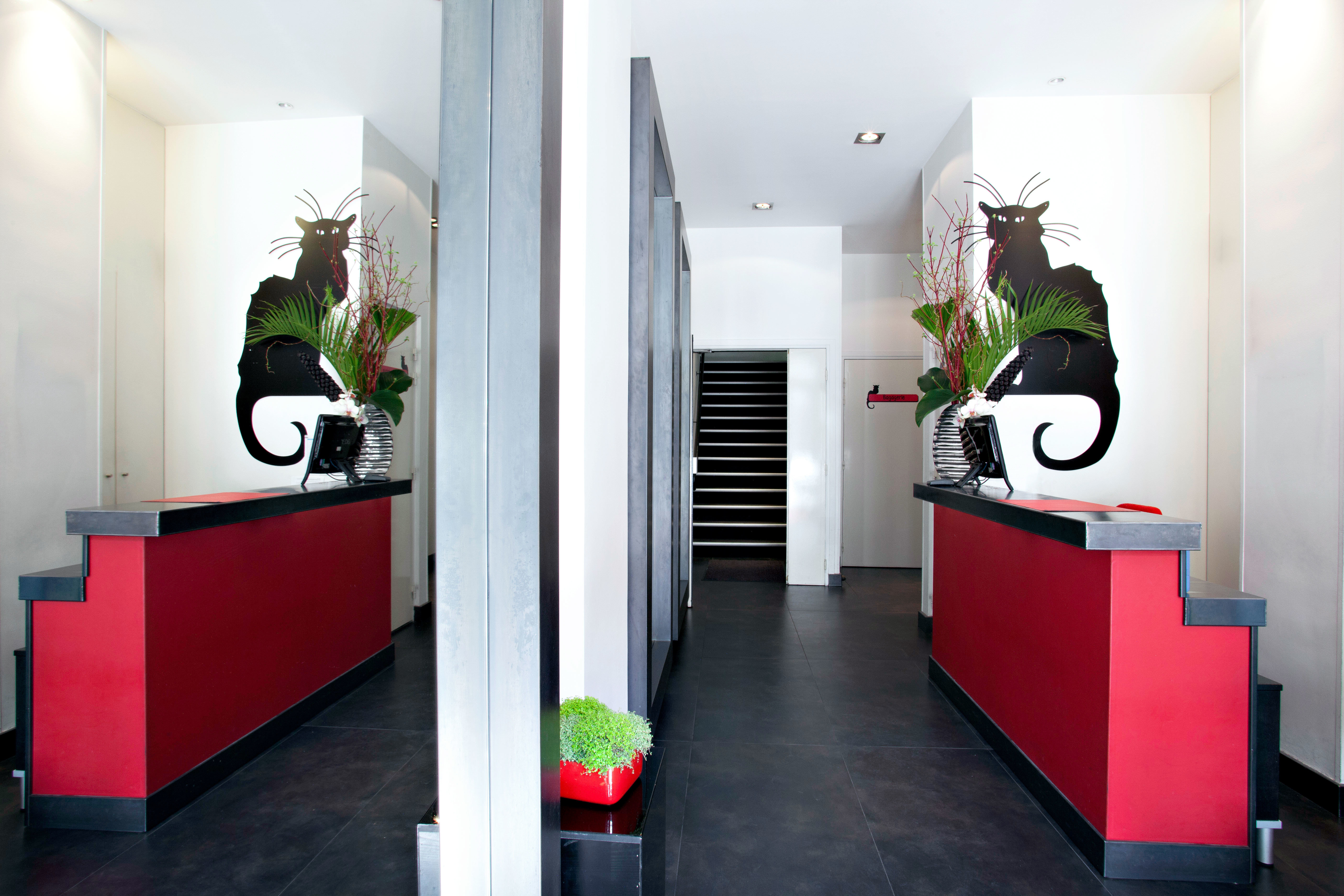 City Lobby color red home living room flooring office hall plant