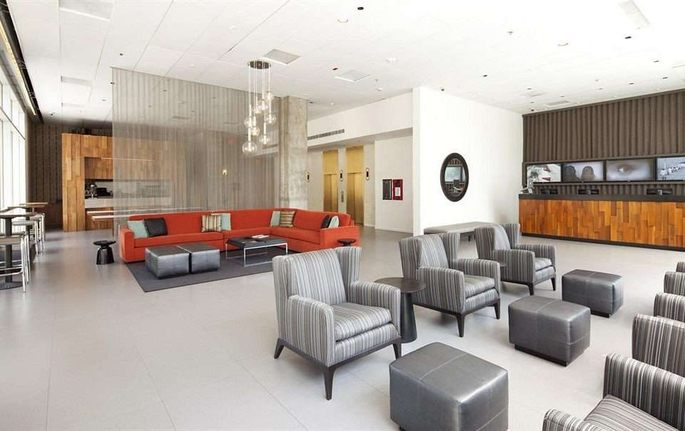 City Lobby Lounge sofa property condominium conference hall waiting room living room office headquarters convention center leather