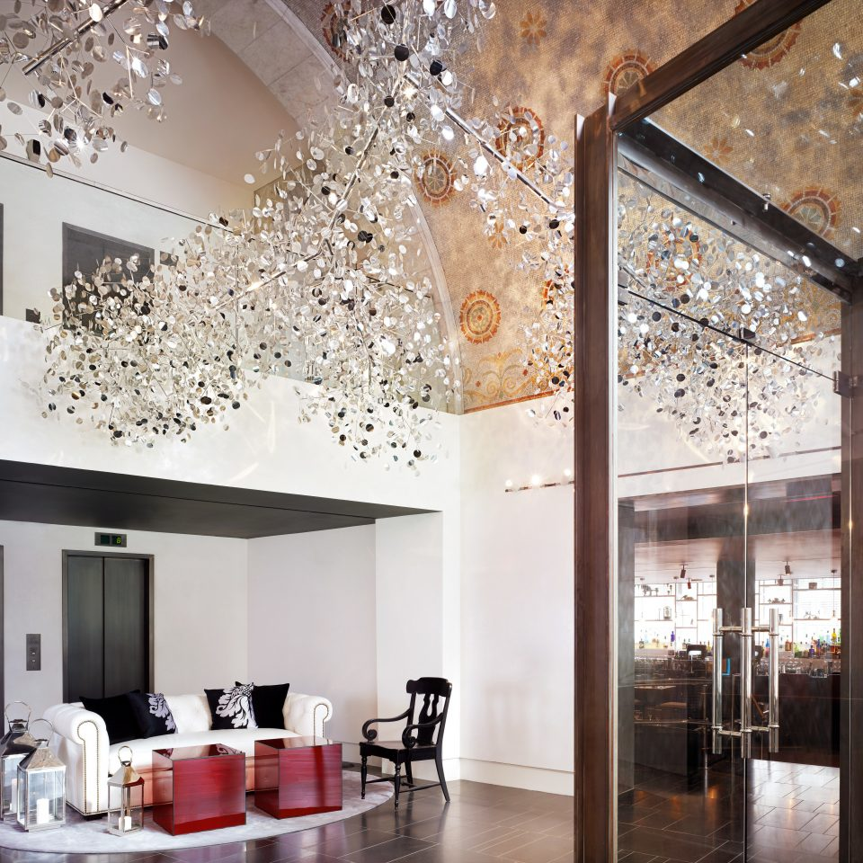 City Lobby Lounge lighting living room counter