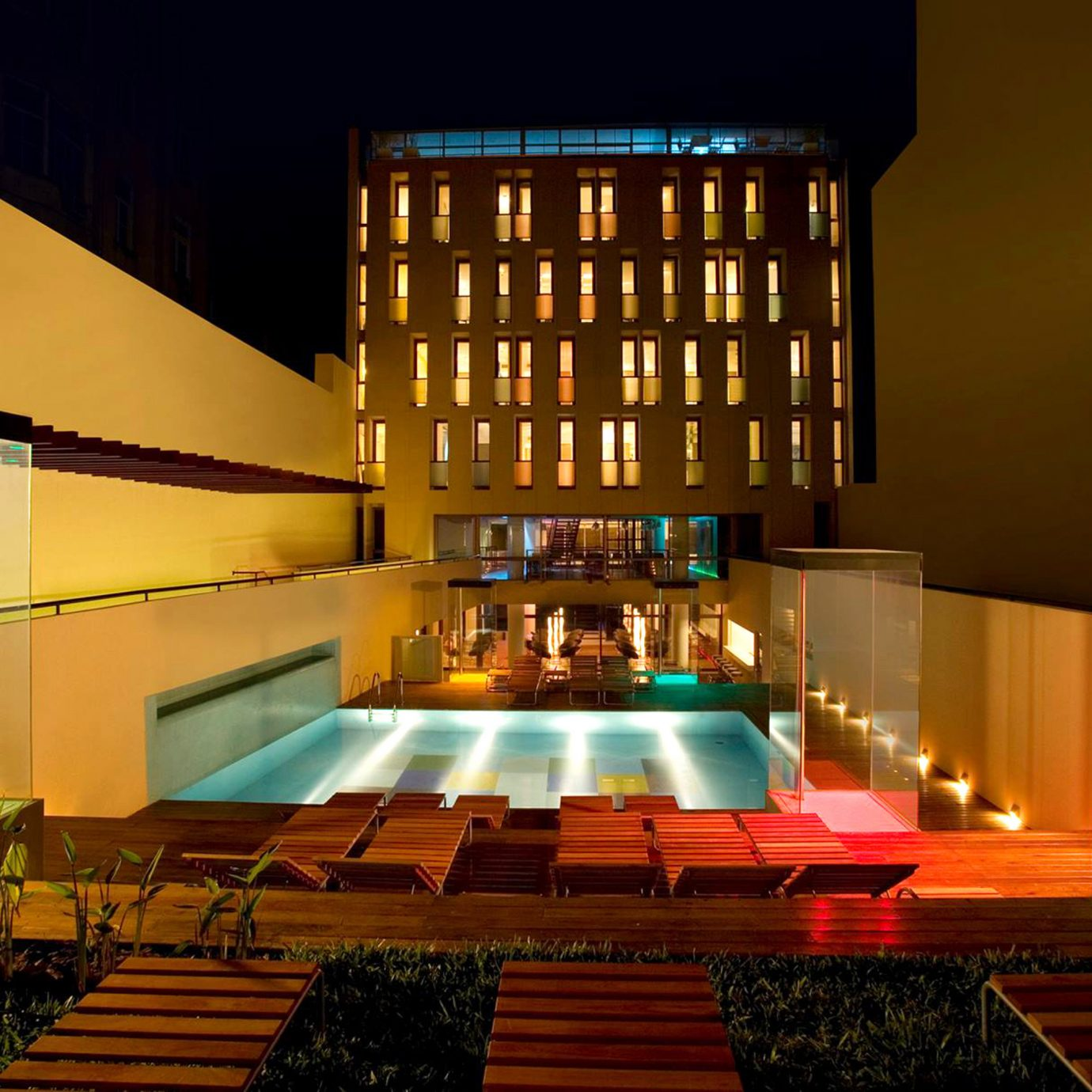City Lounge Luxury Pool Lobby auditorium stage lighting light night