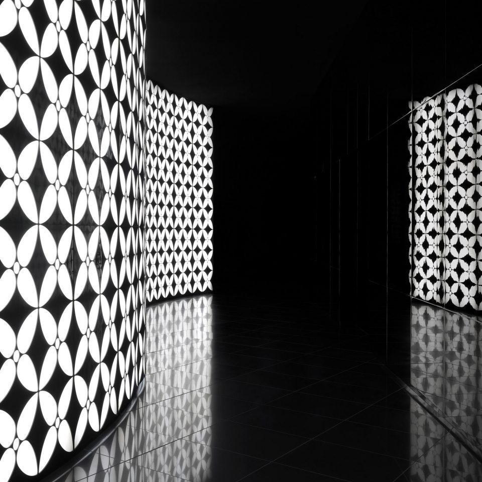 City Lobby Modern bathroom black white black and white light darkness monochrome night tiled monochrome photography lighting shape line symmetry dark tile chain basement