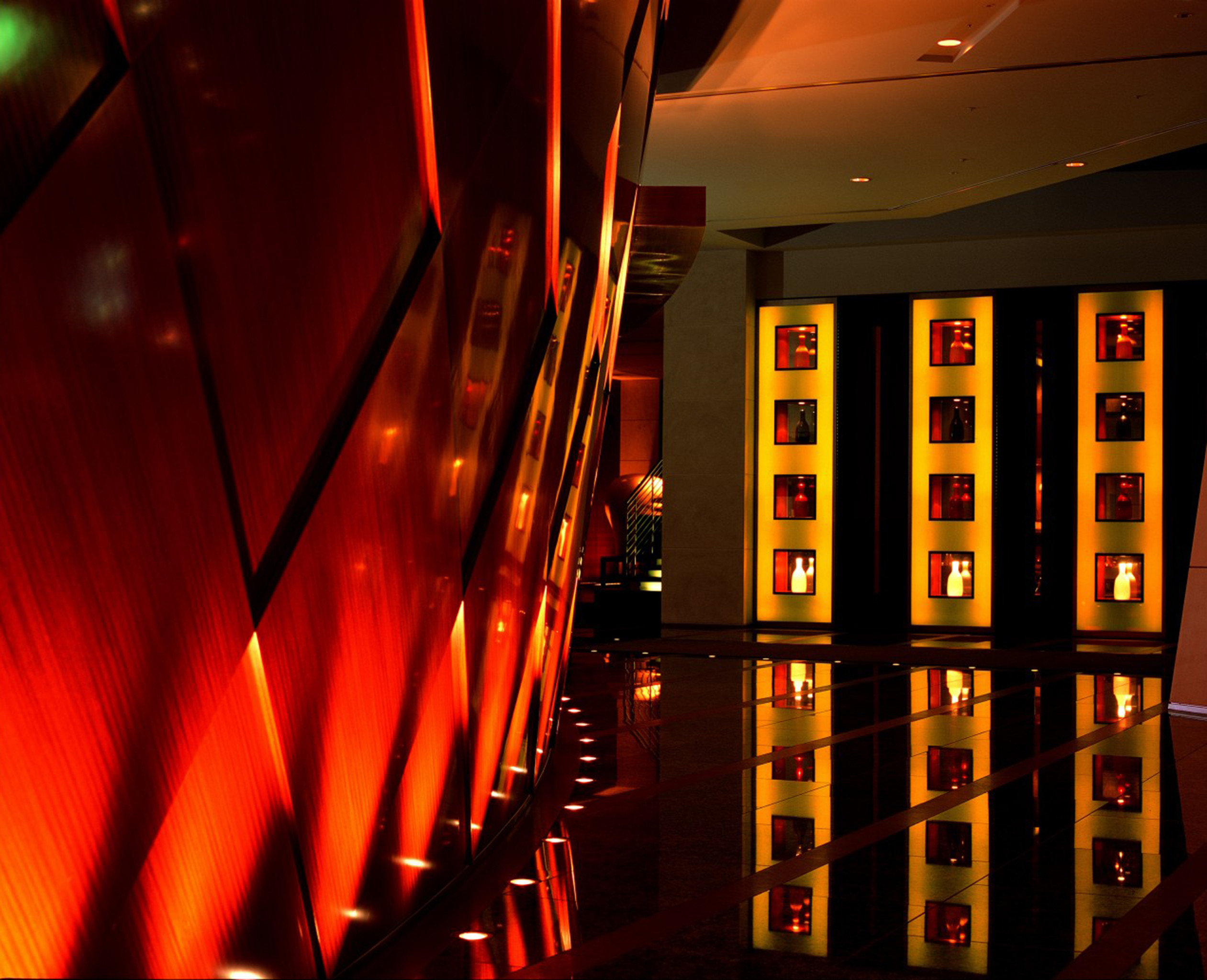 City Lobby Modern color red light night darkness stage
