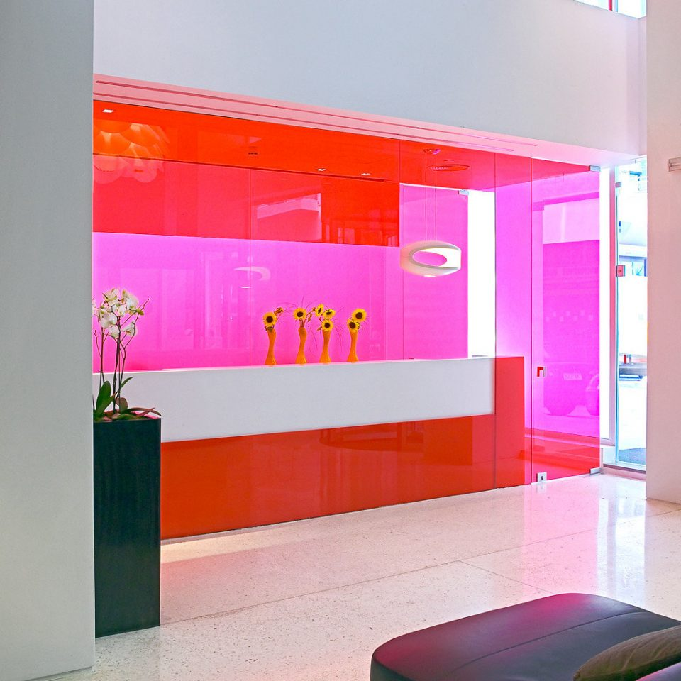 City Lobby Modern color pink modern art living room colored