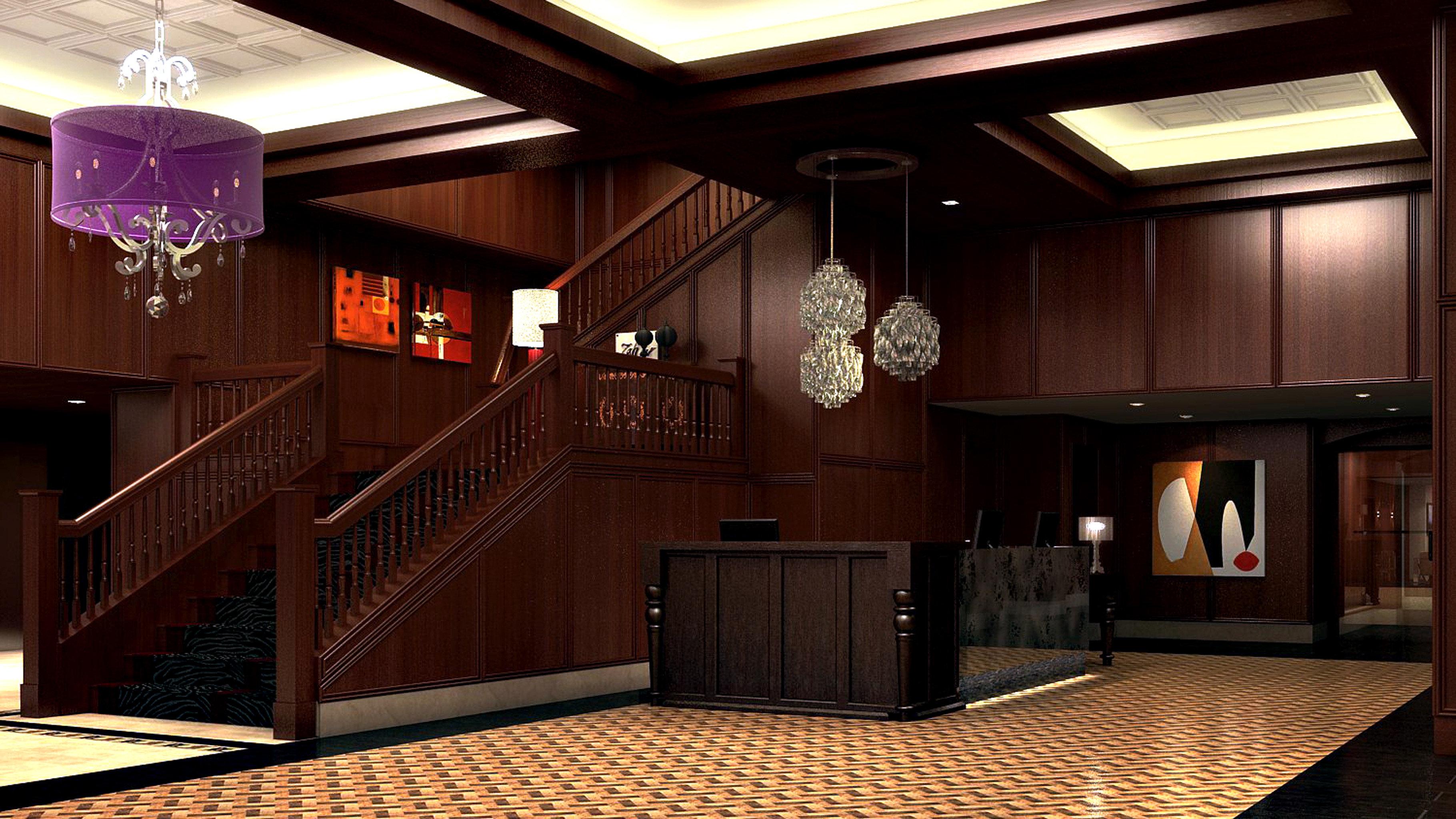 City Lobby Modern home lighting living room hall recreation room