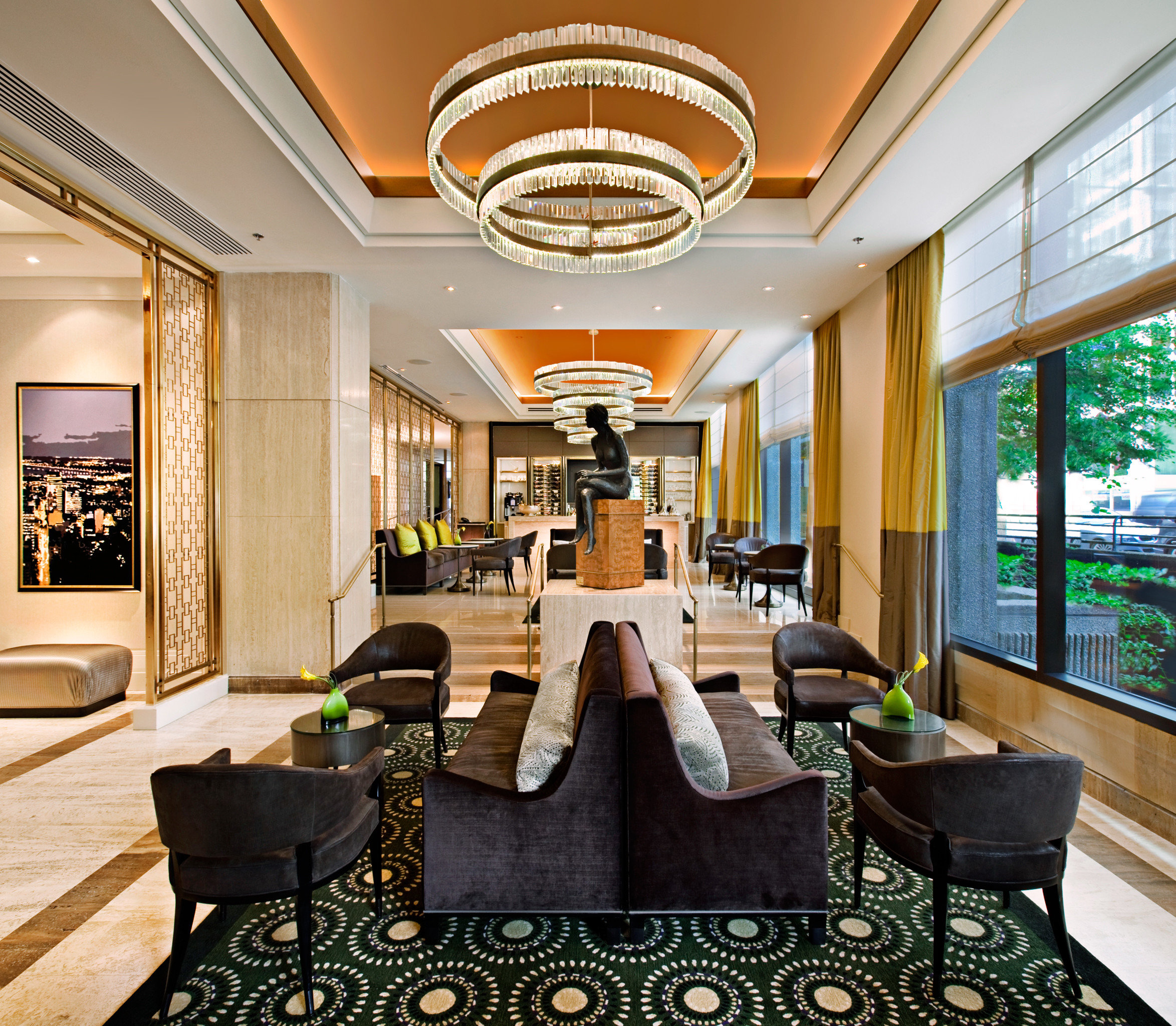 City Lobby Modern property living room condominium home mansion Resort Suite recreation room