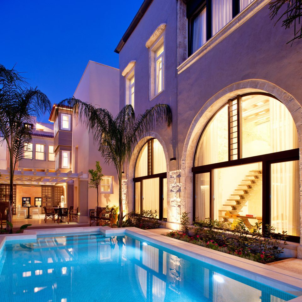 Lounge Luxury Modern Pool building swimming pool property house home mansion Villa Resort backyard City
