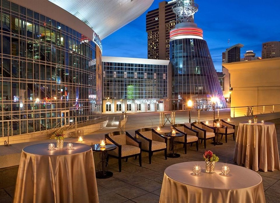 City Lounge Rooftop chair restaurant convention center function hall plaza overlooking