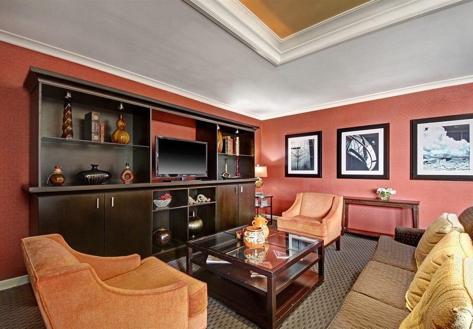 City Lounge property living room Suite home condominium cottage orange