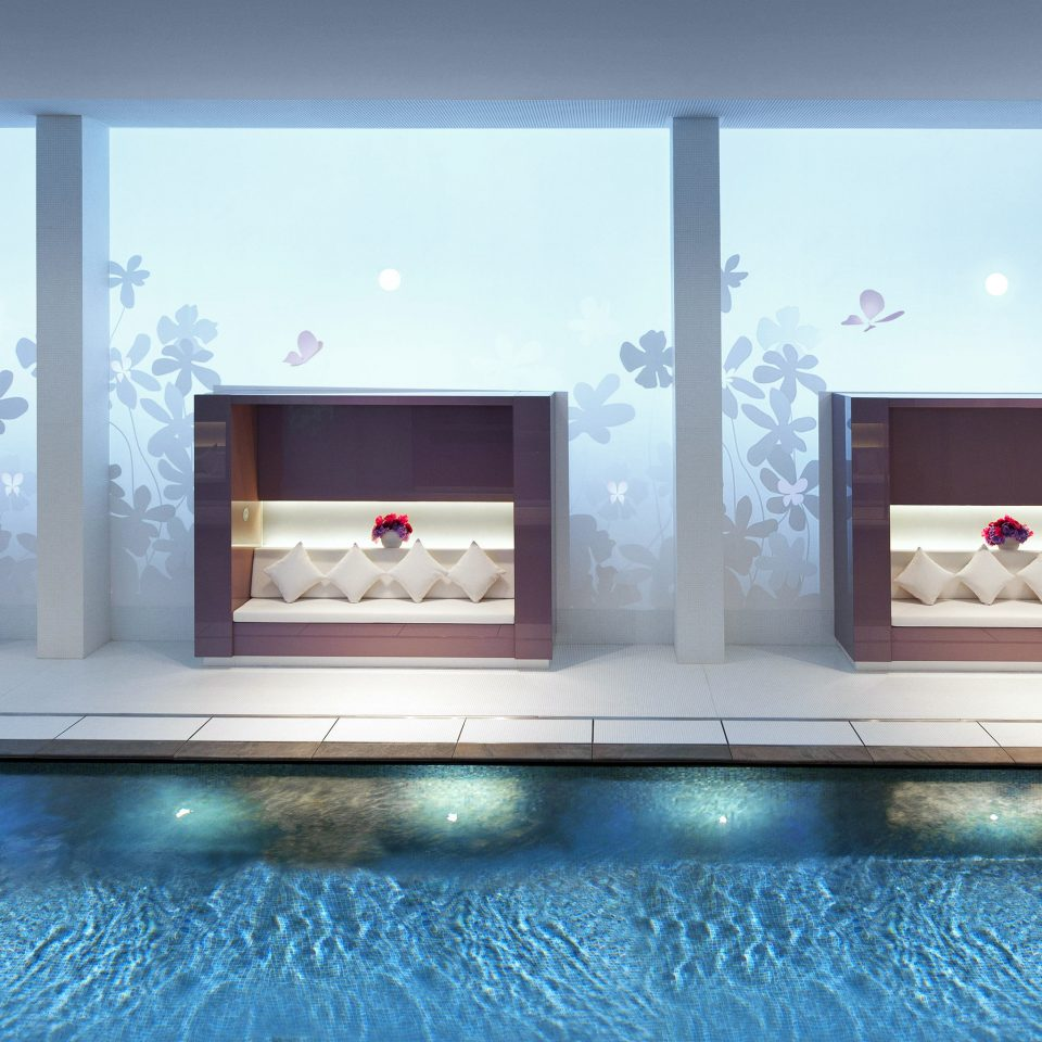 City Luxury Modern Pool Spa Wellness living room modern art flat