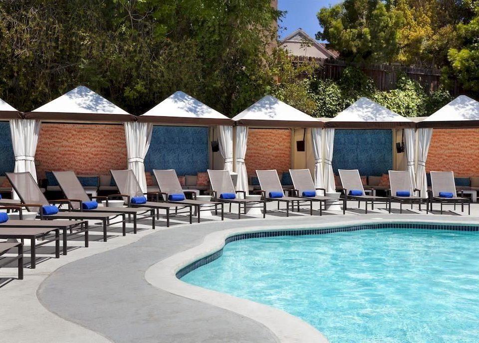 City Modern Patio Pool tree swimming pool property leisure Resort Villa swimming backyard blue cottage
