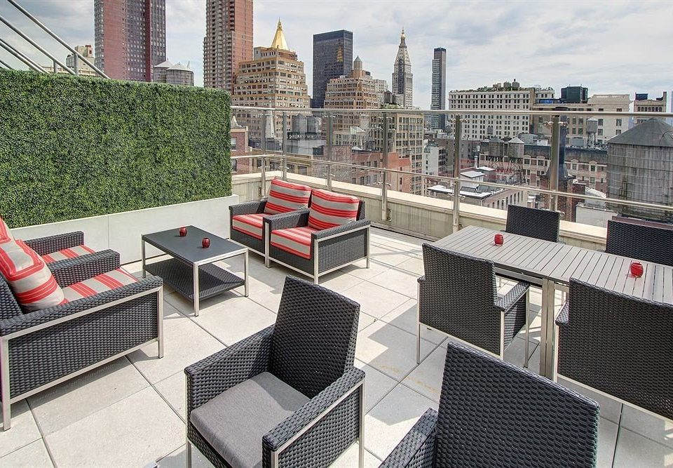 City Modern Rooftop property condominium outdoor structure plaza