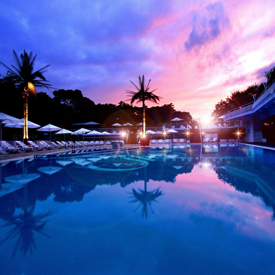 City Nightlife Resort Scenic views Sunset sky light night swimming pool evening dusk sunlight Sea clouds computer wallpaper