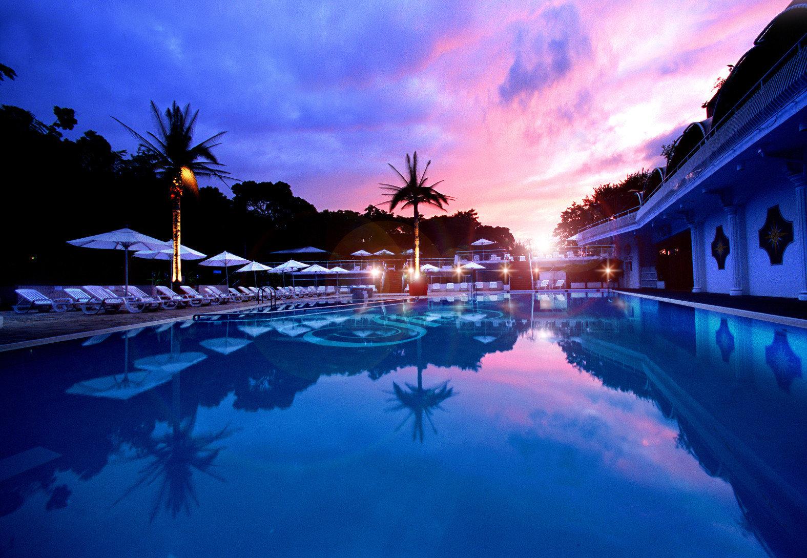 City Nightlife Resort Scenic views Sunset sky light night swimming pool evening dusk sunlight Sea clouds computer wallpaper