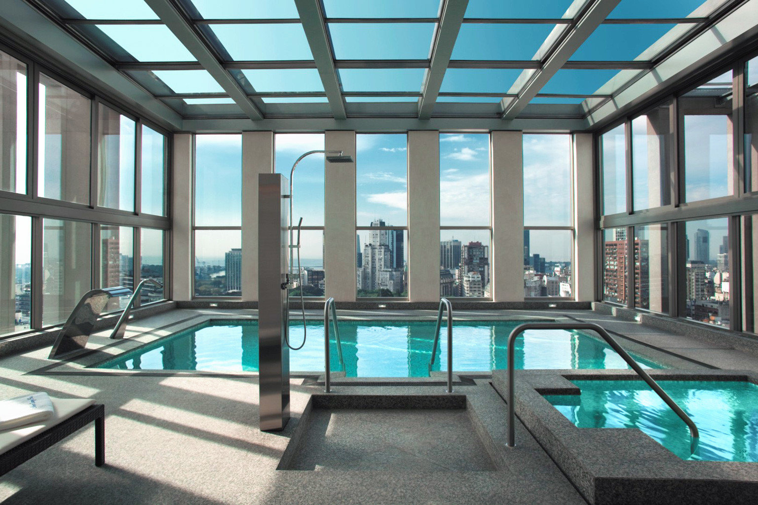 City Play Pool Rooftop Scenic views swimming pool property building leisure centre condominium daylighting Resort green mansion headquarters
