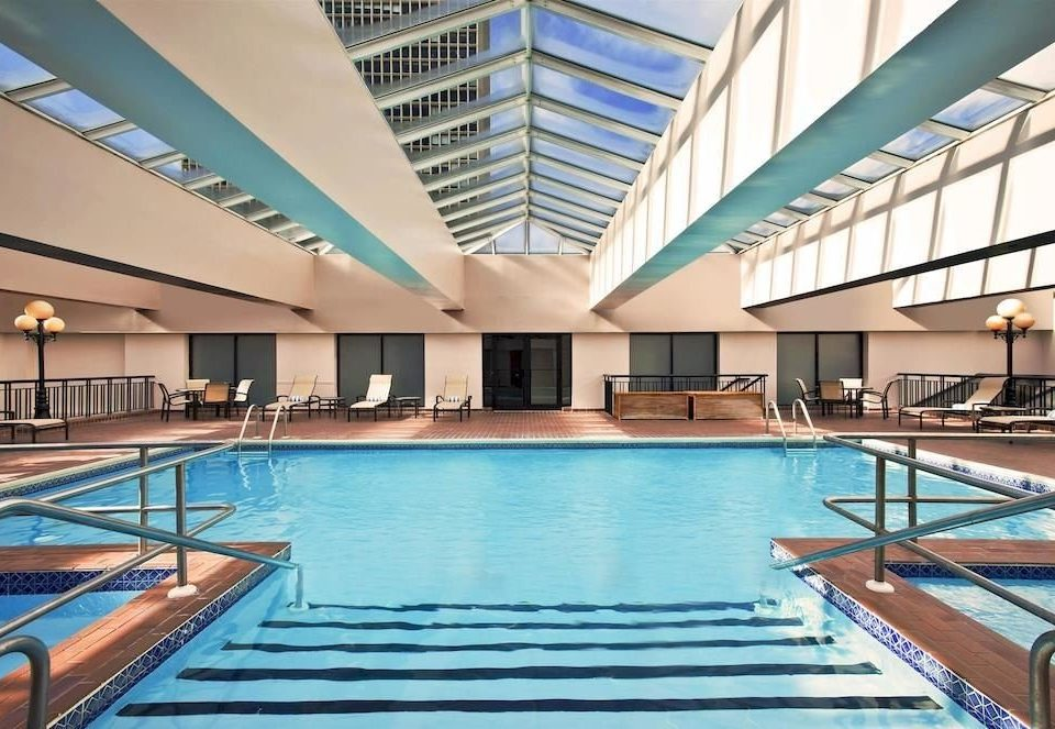 City Pool swimming pool building property leisure Resort condominium leisure centre empty colonnade