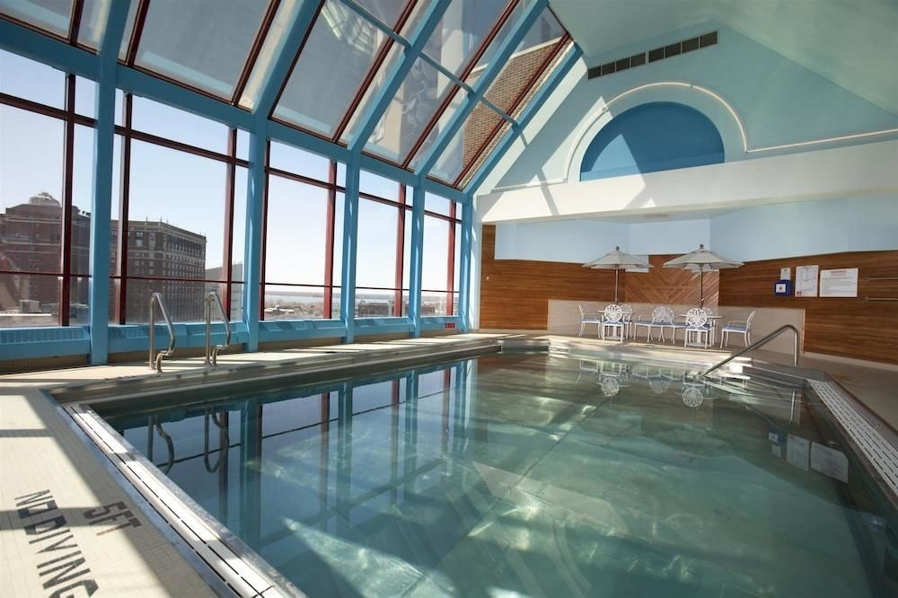 City Pool Scenic views swimming pool property building leisure centre daylighting