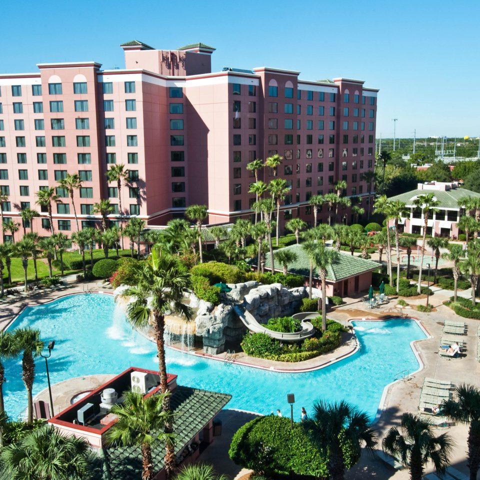 sky Resort leisure neighbourhood residential area condominium City plaza park colorful day colonnade