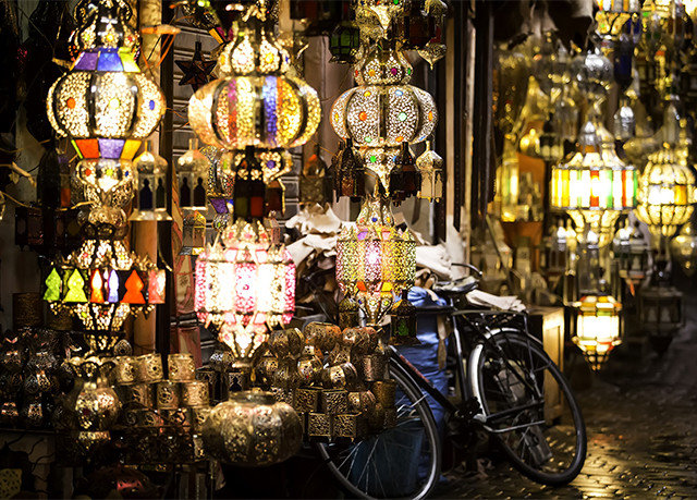 bazaar City public space market night lighting store Shop altar