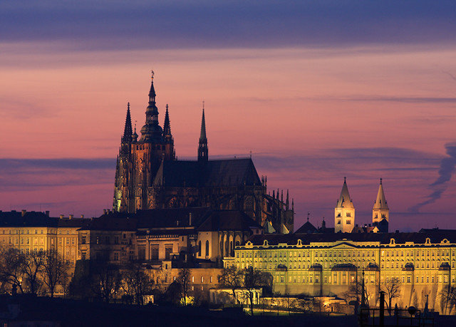 sky water Sunset landmark City evening dusk dawn cityscape night morning skyline sunrise cloudy spire place of worship cathedral tower castle day